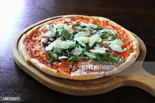 Prosciutto With Rocket And Parmesan Pizza
