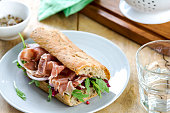 Prosciutto with Rocket and Radicchio on Wholegrain Sandwich
