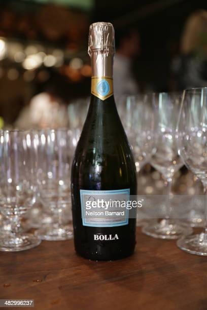 Prosecco is served during New York Culinary Experience private dinner featuring Chefs David Bouley Daniel Rose and David Waltuck hosted by New York...