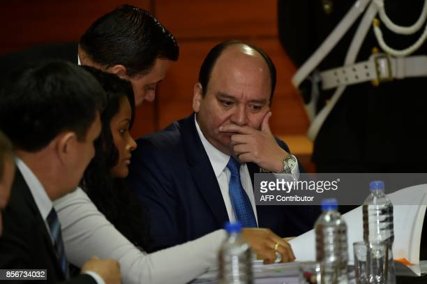 Prosecutor Carlos Baca is pictured during a hearing during which he asked for preventive detention for Ecuadorean VicePresident Jorge Glas allegedly...