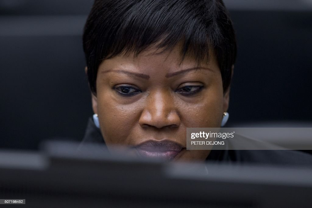 Prosecutor <a gi-track='captionPersonalityLinkClicked' href=/galleries/search?phrase=Fatou+Bensouda&family=editorial&specificpeople=802492 ng-click='$event.stopPropagation()'>Fatou Bensouda</a> looks on before the start of the trial of former Ivory Coast president and former youth minister at the International Criminal Court of The Hague, on January 28, 2016. The high-profile trial of former Ivorian president Laurent Gbagbo opened on January 28, 2016 five years after post-election violence wracked his nation, with supporters and foes aiming to shed light on the turmoil that left 3,000 dead. / AFP / POOL / Peter Dejong / Netherlands OUT