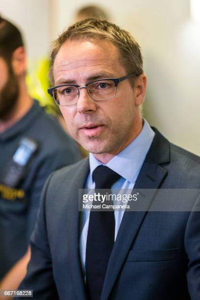 Prosecutor Hans Ihrman gives a press conference on Stockholm truck attack suspect Rakhmat Akilov on April 11 2017 in Stockholm Sweden Four people...