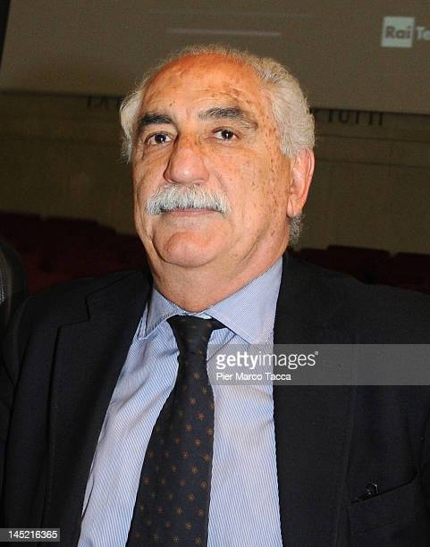 Prosecutor of Republic Armando Spataro attends a 20th Anniversary of Capaci Mafia attack at Aula Magna of the court of Milan on May 23 2012 in Milan...