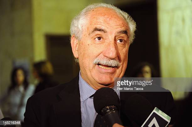 Prosecutor of Republic Armando Spataro is interviewed as he attends a 20th Anniversary of Capaci Mafia attack at Aula Magna of the court of Milan on...