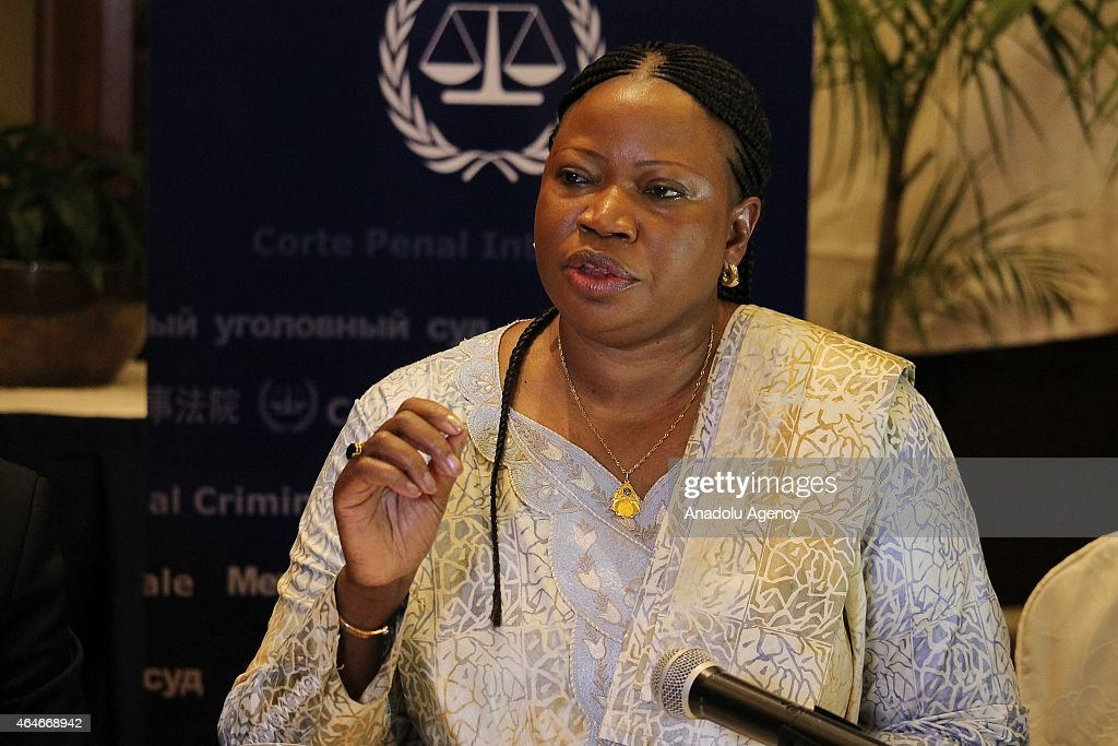 Prosecutor of the International Criminal Court (ICC), <a gi-track='captionPersonalityLinkClicked' href=/galleries/search?phrase=Fatou+Bensouda&family=editorial&specificpeople=802492 ng-click='$event.stopPropagation()'>Fatou Bensouda</a> delivers a speech during a press conference in Kampala, Uganda on February 27, 2015.