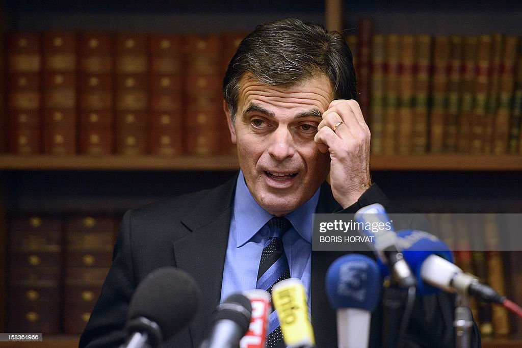 Prosecutor of the Republic, Jacques Dallest, speaks about criminal cases occurred in Marseille in recent days, during a press conference on December 14, 2012 in Marseille, southern France.