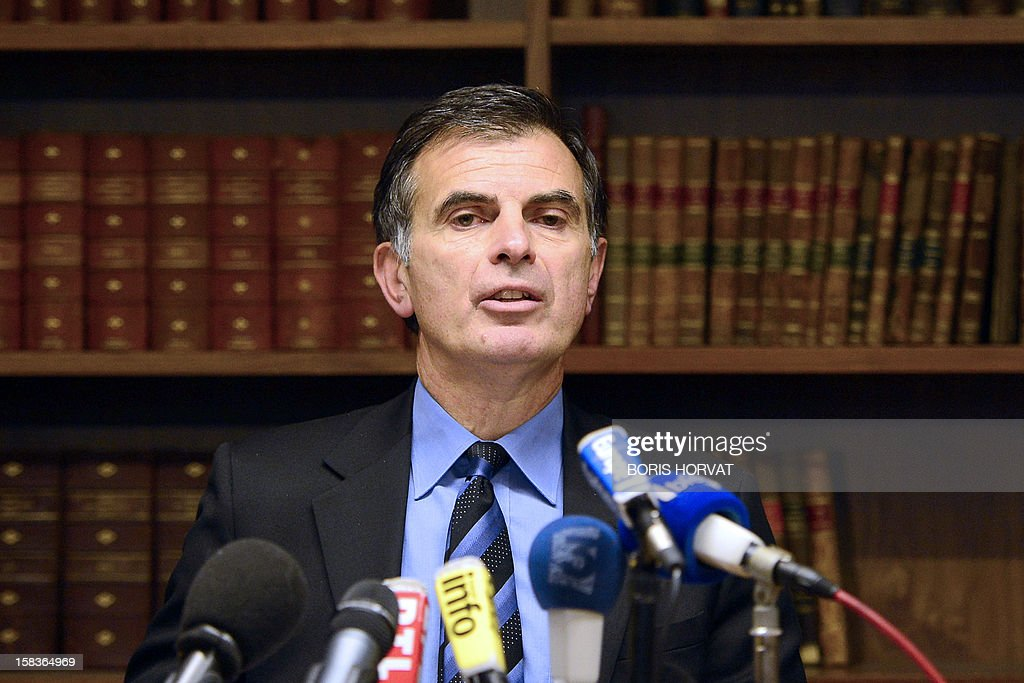Prosecutor of the Republic, Jacques Dallest, speaks about criminal cases occurred in Marseille in recent days, during a press conference on December 14, 2012 in Marseille, southern France. AFP PHOTO / BORIS HORVAT