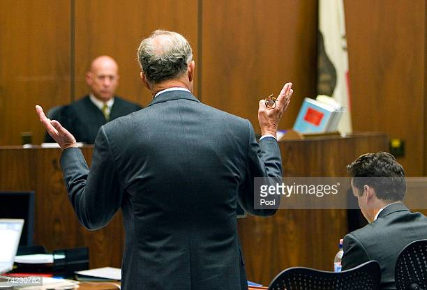 Prosecutor Pat Dixon speaks as Los Angeles Superior Court Judge Larry Fidler listens during Phil Spector's at Los Angeles Superior Court May 23 2007...