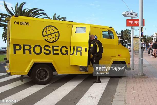Prosegur Spanischer Geldtransporter in Jandia auf Fuerteventura Süd