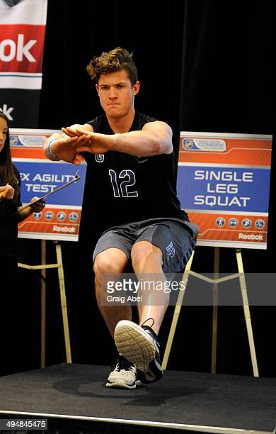 Prospect Blake Weyrick takes part in testing at the NHL Scouting Combine May 31 2014 at the International Centre in Toronto Ontario Canada