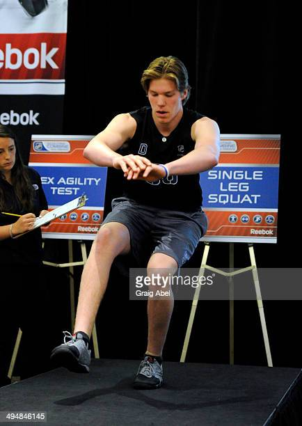 Prospect Kasperi Kapanen takes part in testing at the NHL Scouting Combine May 31 2014 at the International Centre in Toronto Ontario Canada