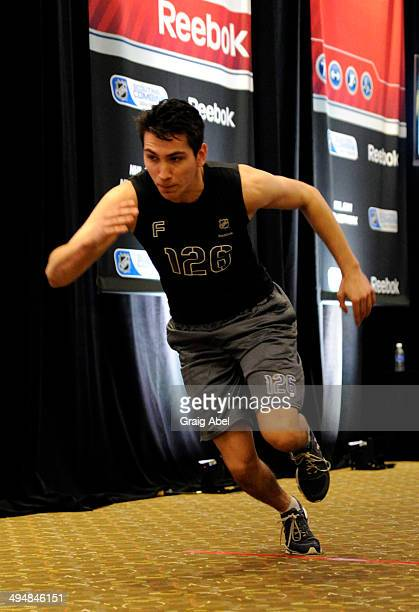 Prospect Michael Dal Colle takes part in testing at the NHL Scouting Combine May 31 2014 at the International Centre in Toronto Ontario Canada