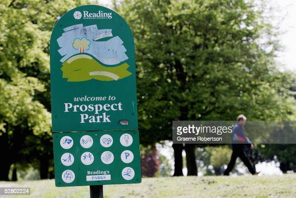 Prospect Park sign where the murder of MaryAnn Leneghan happened on May 12 2005 in Reading England Police are still questioning two men arrested on...