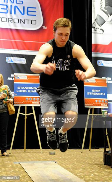 Prospect Vladislav Kamenev takes part in testing at the NHL Scouting Combine May 31 2014 at the International Centre in Toronto Ontario Canada