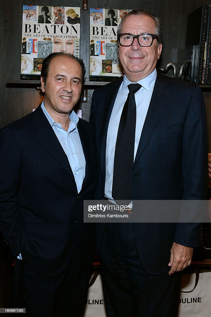 Prosper Assouline and Henri Barguirdjian, President & CEO, Graff Diamonds attend ASSOULINE, Martine and Prosper Assouline host a book signing for Ketty Pucci-Sisti Maisonrouge's 'The Luxury Alchemist' at Assouline at The Plaza Hotel on September 18, 2013 in New York City.