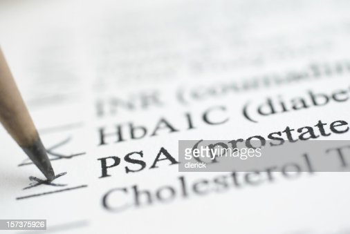 PSA Prostate test report ticked