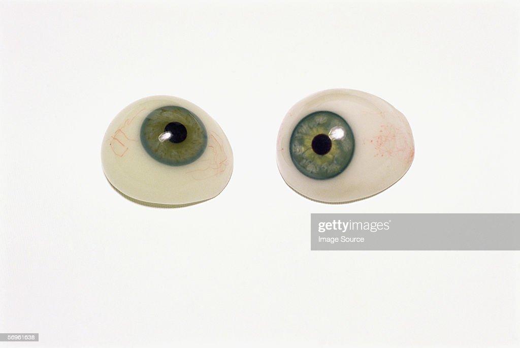 Prosthetic eyes : Stock Photo