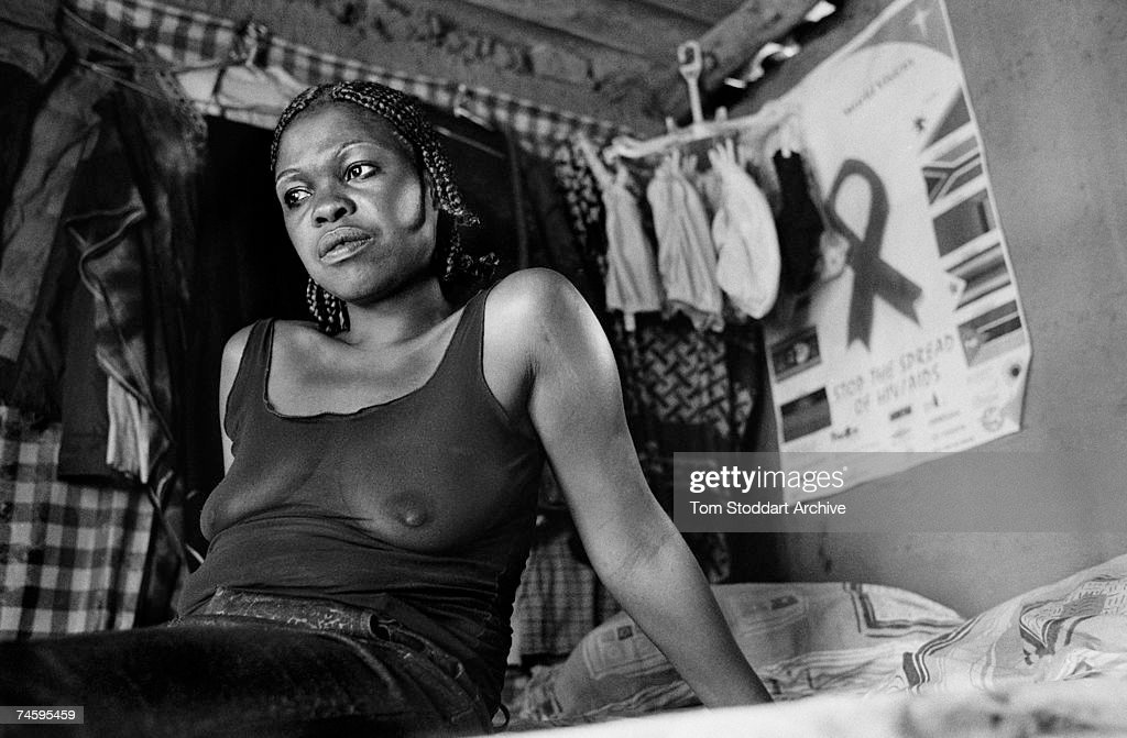 A prostitute who sells sex to truck drivers at Chirundu border crossing between Zambia and Zimbabwe