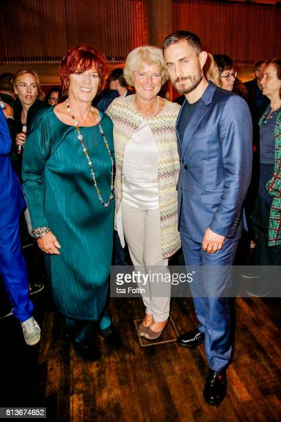 Prosucer Regina Ziegler German politician Monika Gruetters and German actor Clemens Schick during the summer party 2017 of the German Producers...