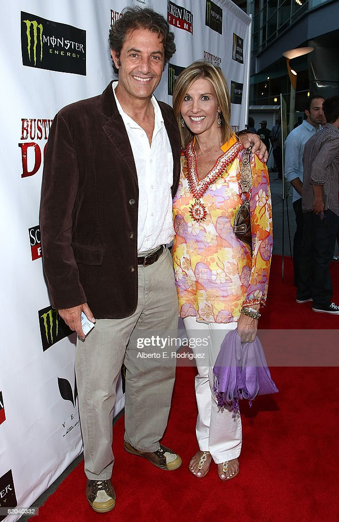 Pro-surfer/producer Shaun Tomson and wife Carla Tomson arrivs at the premiere of the surfing documentary 'Bustin' Down the Door' held at the Arclight Theaters on July 22, 2008 in Los Angeles, California.
