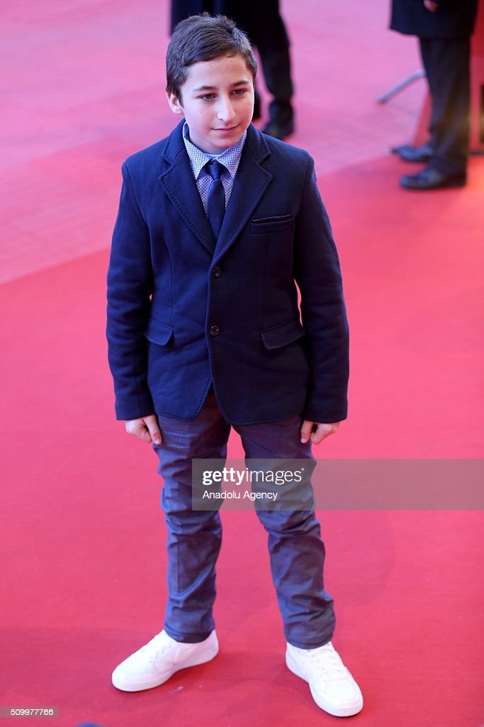 Protagonist Samuele Pucillo attends the 'Fire at Sea' (Fuocoammare) premiere during the 66th Berlinale International Film Festival Berlin at Berlinale Palace on February 13, 2016 in Berlin, Germany.