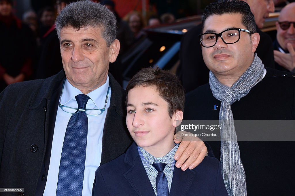 Protagonists Pietro Bartolo, Samuele Pucillo and guest attend the 'Fire at Sea' (Fuocoammare) premiere during the 66th Berlinale International Film Festival Berlin at Berlinale Palace on February 13, 2016 in Berlin, Germany.