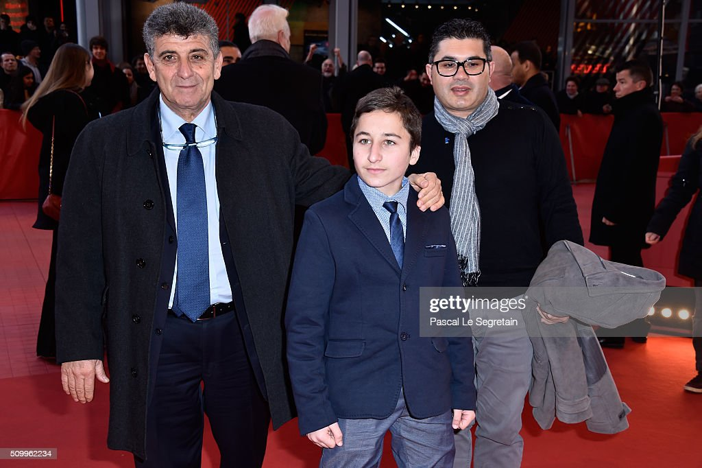 Protagonists Samuele Pucillo and Pietro Bartolo attend the 'Fire at Sea' (Fuocoammare) premiere during the 66th Berlinale International Film Festival Berlin at Berlinale Palace on February 13, 2016 in Berlin, Germany.