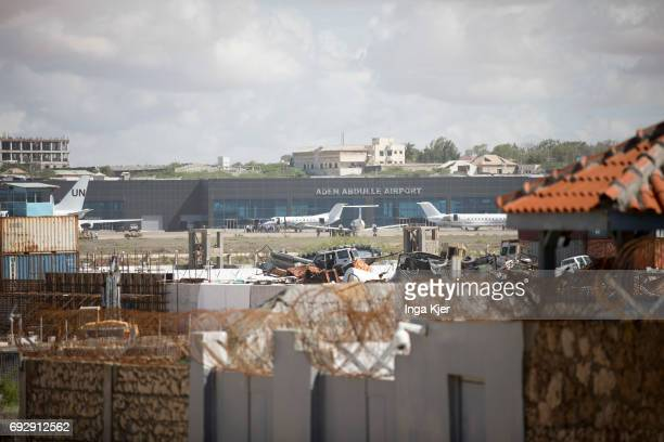 Protected outdoor area at the airport of Mogadishu on May 01 2017 in Mogadischu Somalia