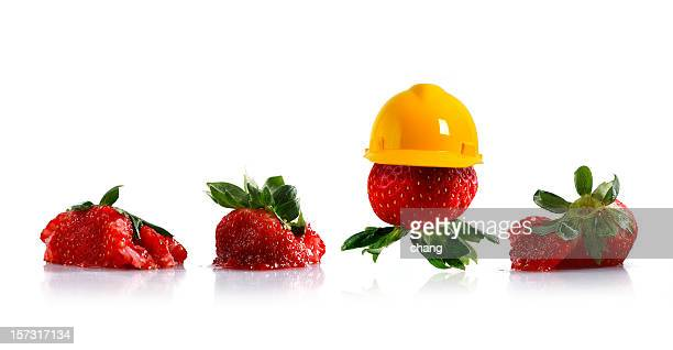 protected strawberries