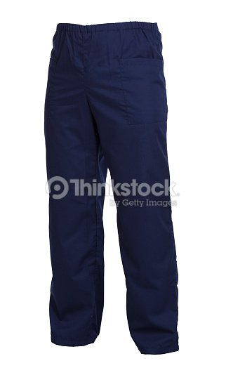 Protective working trousers isolated on white background : Stock Photo
