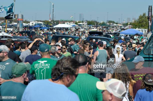 Protest are expected around the nation in support of the Take a Knee movement of NFL player Colin Kaepernick Fans gather for the traditional pregame...