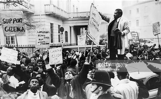 Protest In London Against Murder Of Patrice Lumumba In 1961