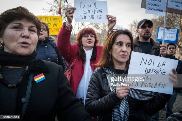 Protest of the Rumania community in Rome in Piazza dell Esquilino against corruption and against the Government of Social Democrat Sorin Grindeanu...