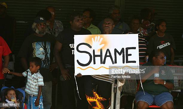 BRISBANE FAIRFAX NEWS PALM ISLAND PROTEST Protest on Palm Island over the death in custody of Mulrunji Doomadgee Picture by Paul Harris Wednesday 20...