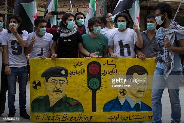 A protest stand in the first anniversary of the chemical massacre in East Ghota in which hundreds of civilians were killed Today marks the unholy...