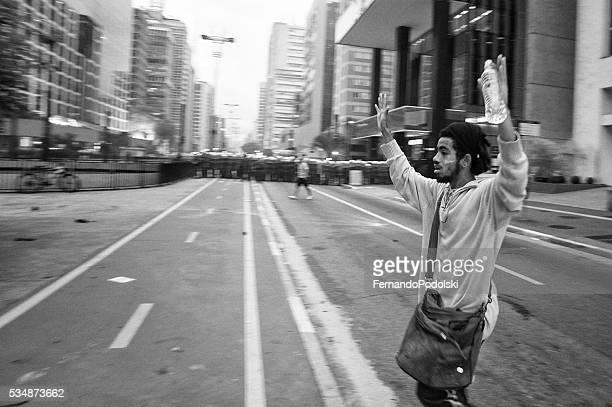 Protester Surrender