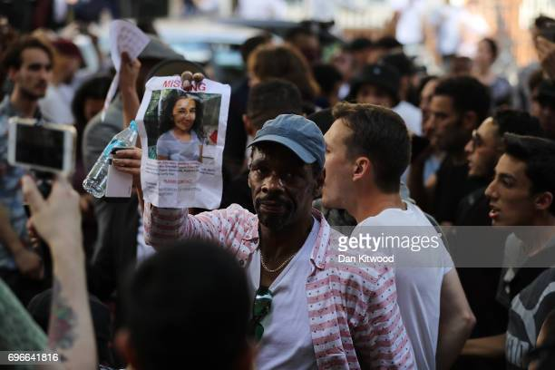 Protesters demonstrate outside Kensington Town Hall on June 16 2017 in London England 30 people have been confirmed dead and dozens still missing...