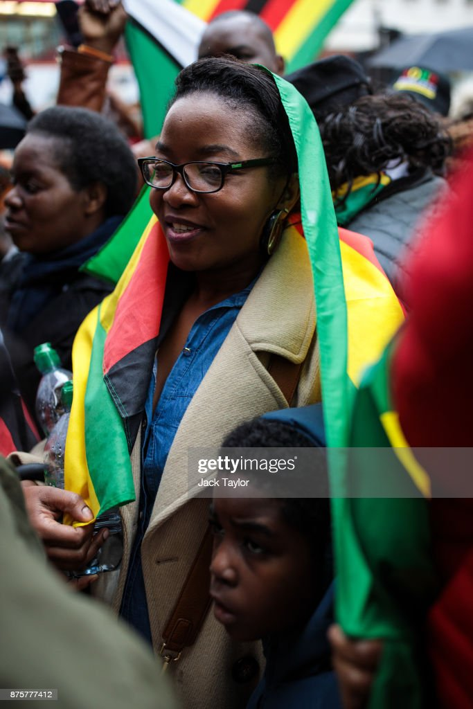 Demonstration In Support Of Ousting Mugabe As Zimbabwe Leader