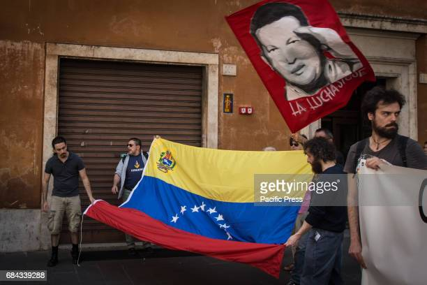 Protesters demonstrate solidarity for President of Venezuela Nicolas Maduro and the people of the Bolivarian Republic of Venezuela against the...