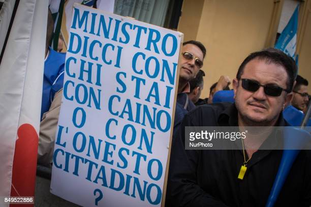 Protesters from The Penitentiary Police on September 19 2017 in Rome Italy The Penitentiary Police are protesting in Rome for better working...