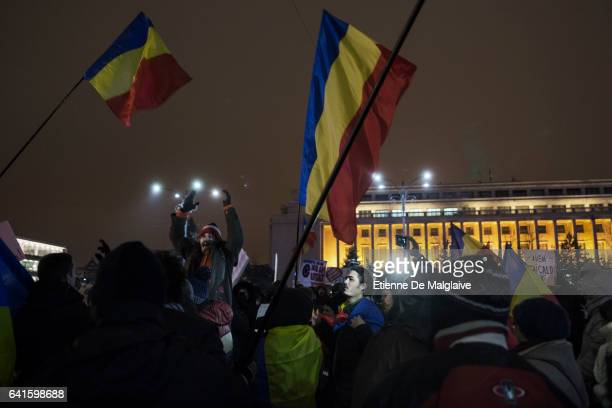Protesters gathered in Bucharest Victory Square are now demanding resignation of PM Sorin Grindeanu Romania protests continue despite repeal of...