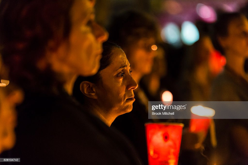 Protesters hold a vigil for Hodan Yasin at Sydney Town Hall on May 4, 2016 in Sydney, Australia. Hodan Yasin, a 21-year-old Somali refugee is being treated in a Brisbane hospital after setting herself alight in detention on Nauru on Monday. It is the second attempt on Nauru in a week, after Iranian refugee Omid Masoumali set himself on fire last Wednesday. He later died from his injuries.