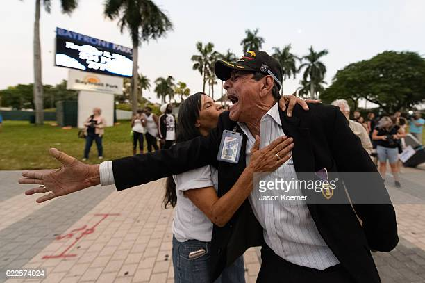 Protesters march against Presidentelect Donald Trump on November 11 2016 in Miami Florida