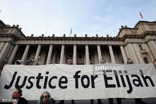 Protesters march down Bourke street on July 28 2017 in Melbourne Australia Rallies around Australia were held this week to protest against the...