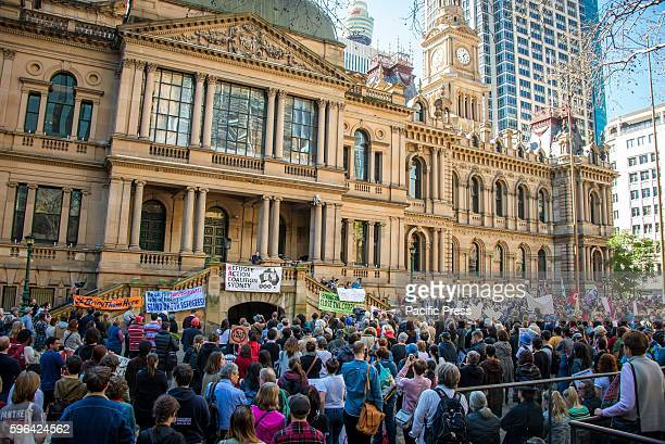 Protesters rallied to demand that all asylum seekers and refugees be brought to Australia following PNG government's decision to close the refugee...