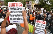 Protesters rally against police brutality in memory of Eric Garner August 23 2014 in Staten Island New York The New York City medical examiner's...