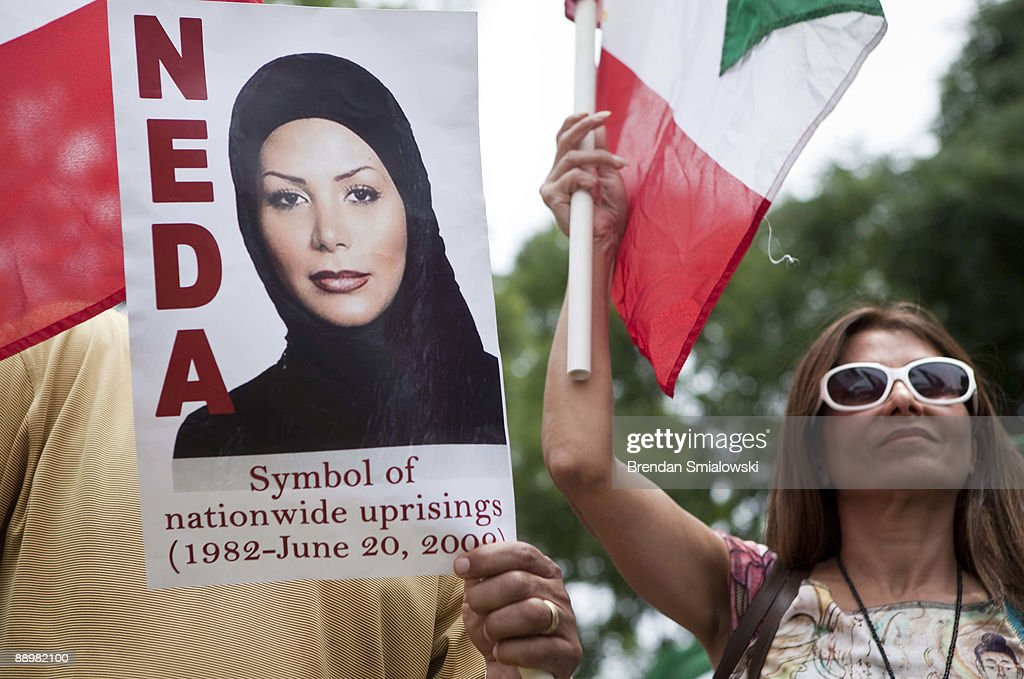 Protesters rally July 11, 2009 in Washington, DC. Activists gathered to rally for the current uprising in Iran over the recent elections.