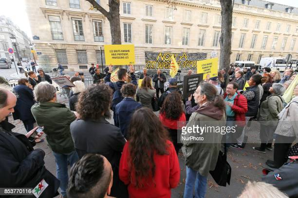 Protesters rally to protest against 'permanent state of emergency' in Paris on September 25 in front of the French National Assembly The French...