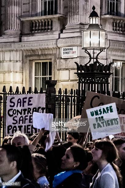 Protesting the proposed changes to NHS junior doctors contracts