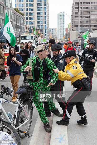 Protestor at the Toronto Marijuana March 2016